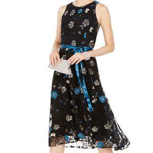 Tahari Floral Embroidered Midi Dress Sz 6  NWT